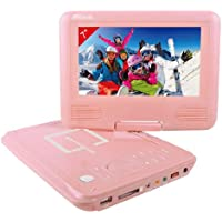 """Takara VR122P - Lettore DVD portatile 7"""" (17,7 cm) USB, scheda SD, colore: Rosa - Trova i prezzi più bassi su tvhomecinemaprezzi.eu"""