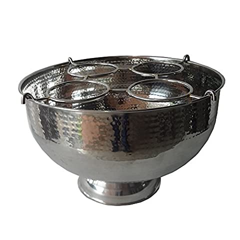Four Bottle Champagne Cooler With Wire Insert