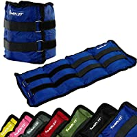 MOVIT® Twin Set of Wrist/Ankle Weights, Armweight, Weights 0.5kg - 4,0kg, Running Weight cuffs in 7 different Colors/Weights