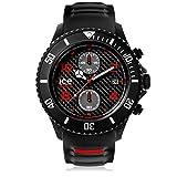 Ice-Watch - ICE carbon Black White - Schwarze Herrenuhr mit Silikonarmband - Chrono - 001316 (Extra Large)