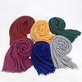 girlove Clearance Sale Premium Viscose Maxi Crinkle Cloud Hijab Scarf Shawl Soft Islam Muslim
