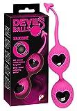 You2Toys Liebeskugel Duo - Liebeskugeln mit rotierenden Innen-Kugeln, Loveballs mit Rückholband, Liebeskugel-Duo für Stimulation und Training, rosa/schwarz