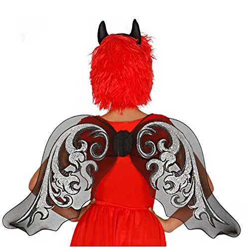 Ali d'angelo glitter 59 cm halloween carnevale party cigno horror donna adulto