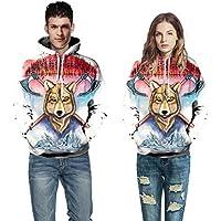 Hanomes Damen pullover, Männer Frauen Mode 3D Print Langarm Paare Hoodies Top Bluse Shirts preisvergleich bei billige-tabletten.eu
