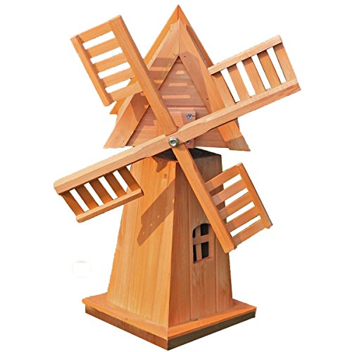 Décoratif en bois Moulin à vent–60x 42x 35cm–Décoration de jardin Moulin à vent en bois jardin Moulin à vent