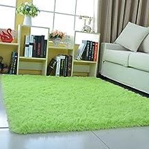 Tapete absorbente duradero antideslizante resistente al desgaste con alfombra shaggy y confortable decoración 0,5 * 0,8 m de diez colores ( Color : Fruit green 0.5*0.8m )