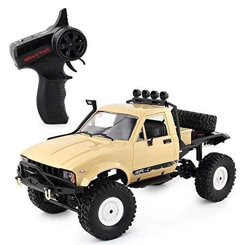 SSBH RC Semi-truck 4x4RTR RC Auto 1/16 4WD Rock Crawler Fahren Auto Doppelmotoren Fahren Big Foot All Terrain Ferngesteuertes Auto Geländewagen Pädagogisches Spielzeug for Kinder ab 3 Jahren Weihnacht