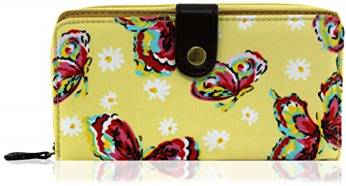 Kukubird Grande Estate farfalla delle ragazze delle signore di qualità TC materiali borsa Beige