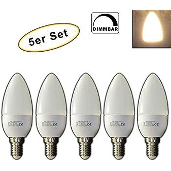 Dimmbare E14 LED Kerze 3 Watt Kerzenform warmweiß Birne ...