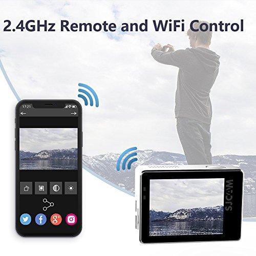 "SJCAM 4K Sport Action Camera,SJ6 Legend 16MP WIFI Waterproof Camera- Dual Screen/2""Touch Screen/Remote Control/Microphone Supported/Gyro Stabilization(Silver)"