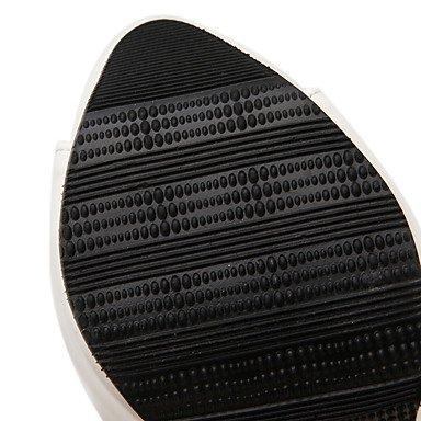 Tacchi Club Scarpe Donna PU per ufficio e del partito Carriera & abito da sera tacco grosso Split Joint Vuoto-fuori Nero Bianco Black