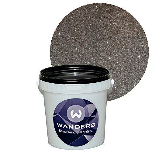 ... Wanders24 Glimmer Optik (1 Liter, Silber Schwarz) Glitzer Wandfarbe In  ...