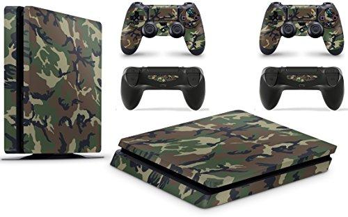 Gizmoz n Gadgetz GNG Adesivi in Vinile per PS4 Slim con Il Logo di Camo 3 per Console E per 2X Controllers