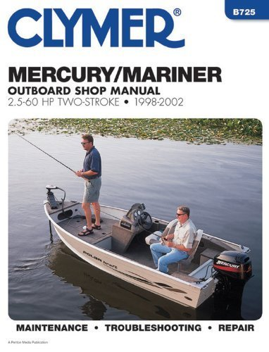 clymer-mercury-mariner-25-60-hp-two-stroke-outboards-1998-2002-b725-by-penton-staff-2000-05-24