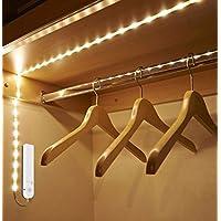 Tira luz led con sensor de movimiento 2 m armarios vestidores pasillos alacenas muebles vitrinas zapateros