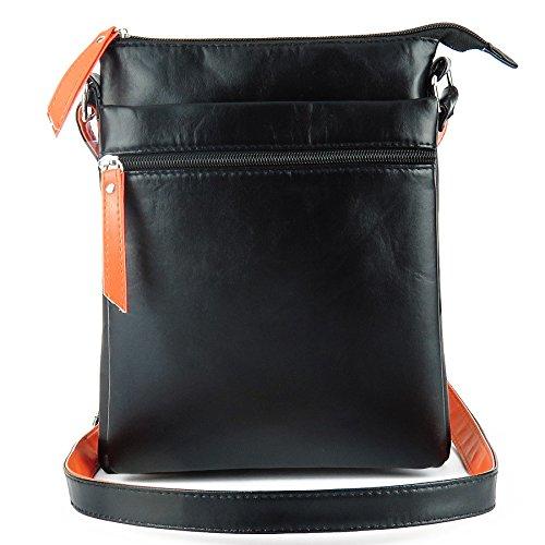 Mefly Diagonale Rv-Tasche Tasche Doppel/Einzel Schultertasche Mit Hoher Kapazität Black