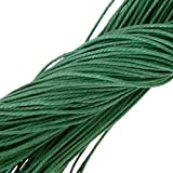 10M Weiß Wachsschnur Wachsband Gewachste Baumwollkordel Wachskordel Schmuckband Baumwolle Seil Schnur Schmucksachen Armband - Grün