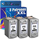 PlatinumSerie® 3x Druckerpatrone für Canon PG-40XL Black Pixma MX300 IP2200 IP2500 IP2600 MP140