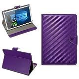 Acer Iconia Tab 10 A3-A50 Universal Tablet Tasche mit Ständerfunktion Hülle für Tablet Schutztasche in edler Carbon-Optik Schutzhülle Stand Tasche Etui Cover Case hochwertige Optik von NAmobile, Farben:Lila