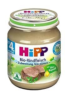 HiPP Bio-Rindfleisch - Zubereitung, 6er Pack (6 x 125 g)