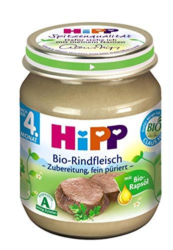HiPP Bio-Rindfleisch püriert Bio, 6er Pack (6 x 125 g)