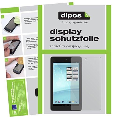 dipos I 2X Schutzfolie matt passend für Trekstor Surftab Breeze 7.0 Quad Folie Displayschutzfolie