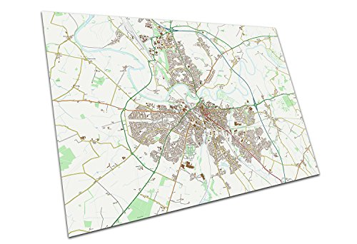Carlisle England Street Map Names & Road Names City Town Original Map Size=A4