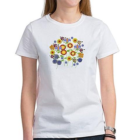 CafePress - Flower Power Women's T-Shirt - Womens Crew Neck