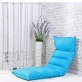 YMXLJFMode Kissen Faules Sofa Ein Schlafzimmer Niedliches Mädchen Kleine Wohnung Einzelnen Bett Stuhl (Farbe : Sky Blue)