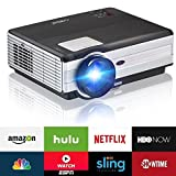LCD Beamer Android System WIFI HD 3500 Lumen LED Heimkino 1080p Video Projektor mit HDMI HD VGA AV TV Videoprojektor für Filme Spiele Xbox Kino Familienessen Hinterhof Party Bar