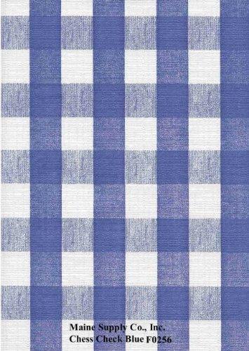 Blue Chess Check Series F0256 Vinyl Tablecloth 54 x 45' Roll by Nordic Shield (Vinyl Tablecloth Roll)