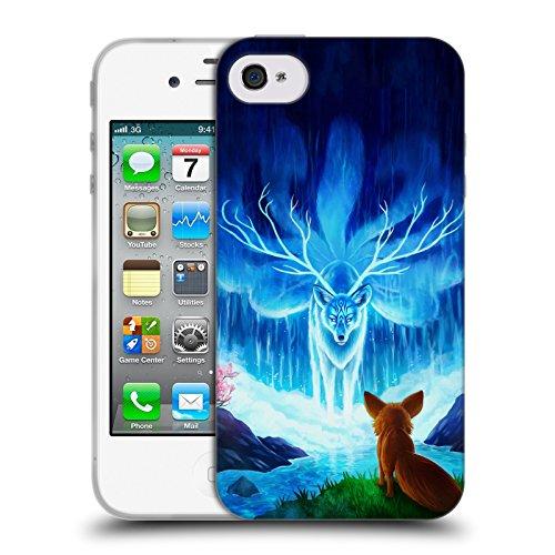 Ufficiale Jonas jojoesart Jödicke Lupo Galassia Animali Selvatici Cover Morbida In Gel Per Apple iPhone 5 / 5s / SE Saggezza