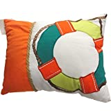 C&F Home 86156036 Zuma Bay Lifesaver Pillow, Orange
