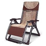 DAWN03 Klappstuhl für den Außenbereich Sonnenliege Liegestuhl Relaxsessel & liegen Klapp Lounge Stuhl Widen Stuhl Mittagspause Couch Büro Klappstuhl Erwachsene Recliners Garten Klappstuhl Gartenstuhl (Farbe : Braun) Braun
