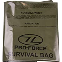 Military Survival Bivi Bag Olive Green with SOS Instructions