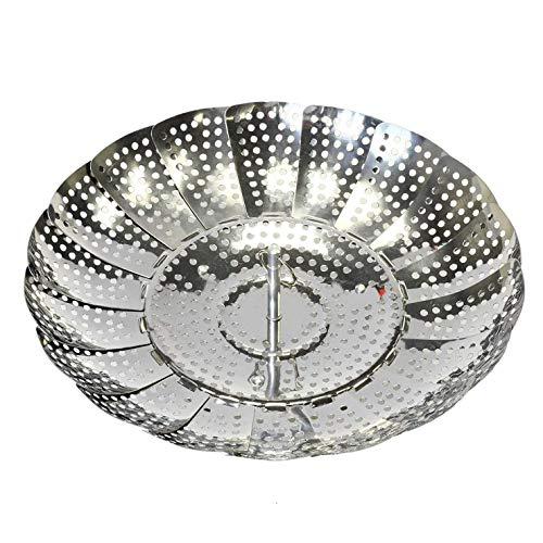 Sodial cestello a vapore pieghevole - si adatta a qualsiasi pentola di dimensioni per rendere la cottura veloce, facile e conveniente - cestini di cottura a vapore vegetale realizzati in acciaio inoss
