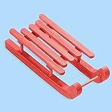 Schlitten rot 9 x 3,6 x 2,3 cm