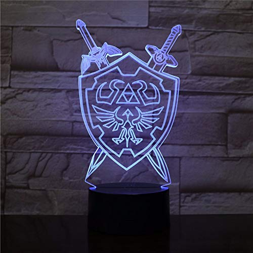Xzfddn The Legend Of Zelda 3D Nachtlichter Tischlampe Anime Spiel Atem Der Wildnis Visuelle Illusion 3D Led Luces Navidad