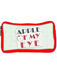 Snoogg Eco Friendly Canvas Apple Of My Eye Designer Student Pen Pencil Case Coin Purse Pouch Cosmetic Makeup Bag