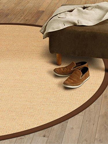 Wohn-jute (benuta Sisal Teppich mit Bordüre Durchmesser 160 cm Rund, Jute, Braun, 160 x 160 x 2 cm)