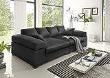 Reboz Big Sofa weiß grau beige braun schwarz Megasofa Kunstleder (Schwarz)