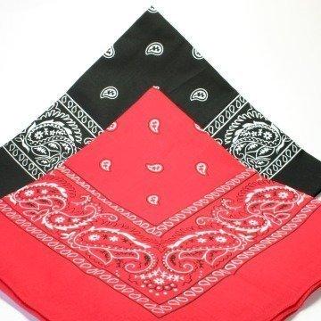 2 BANDANAs 1 black 1 red PAISLEY SCARVES