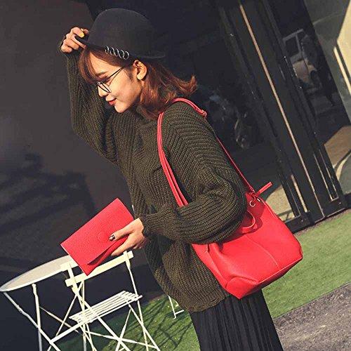 Longra Donne L'insieme composito sacchetti in rilievo Rosso