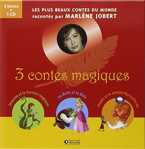 3 contes magiques : Coffret en 3 volumes : Jacques et le haricot magique ; La Belle et la Bête ; Aladin et la lampe merveilleuse (1CD audio) par Marlène Jobert