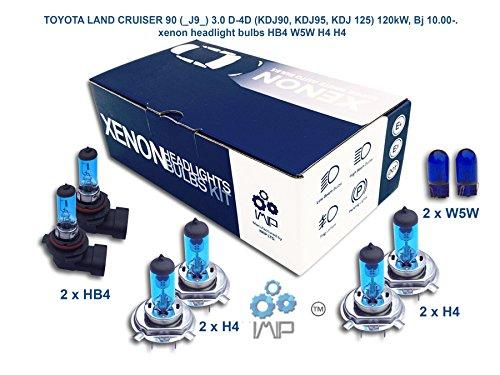 IMIP - TOYOTA LAND CRUISER 90 (_J9_) 3.0 D-4D | Xenon Scheinwerfer Glühlampen Super Weiß HB4 W5W H4 H4