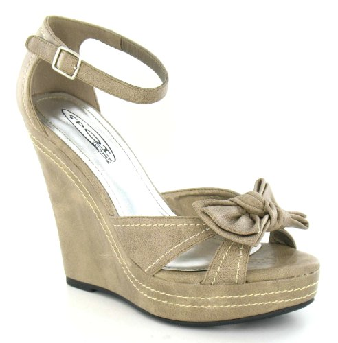 Spot On , Sandales pour femme Beige - beige