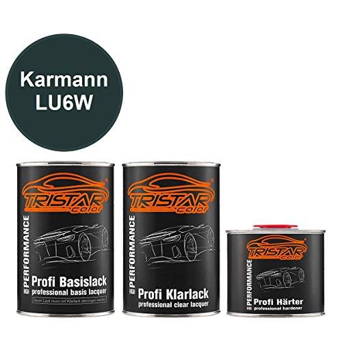 Preisvergleich Produktbild TRISTARcolor Autolack Set Dose spritzfertig Karmann LU6W Dark Inca Green Metallic / Dark Inka Green Metallic Basislack + 2K Klarlack 2, 5L