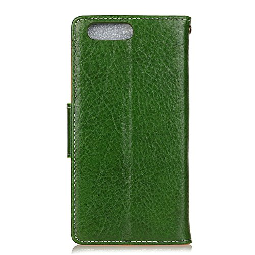 AddGuan iPhone 8/7 Plus Case,Vera Pelle Case [Slot Per Schede][Creative Foldable Stand ] [Fibbia Magnetica ]Flip Custodia Case Adatto Per iPhone 8/7 Plus Case (Nero) Verde