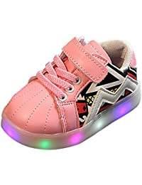 XFentech LED Scarpe Sneakers Lampeggiante Luminosi Sportive Bambino Unisex