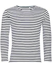 SOLS Marine - T-shirt rayé à manches longues - Homme